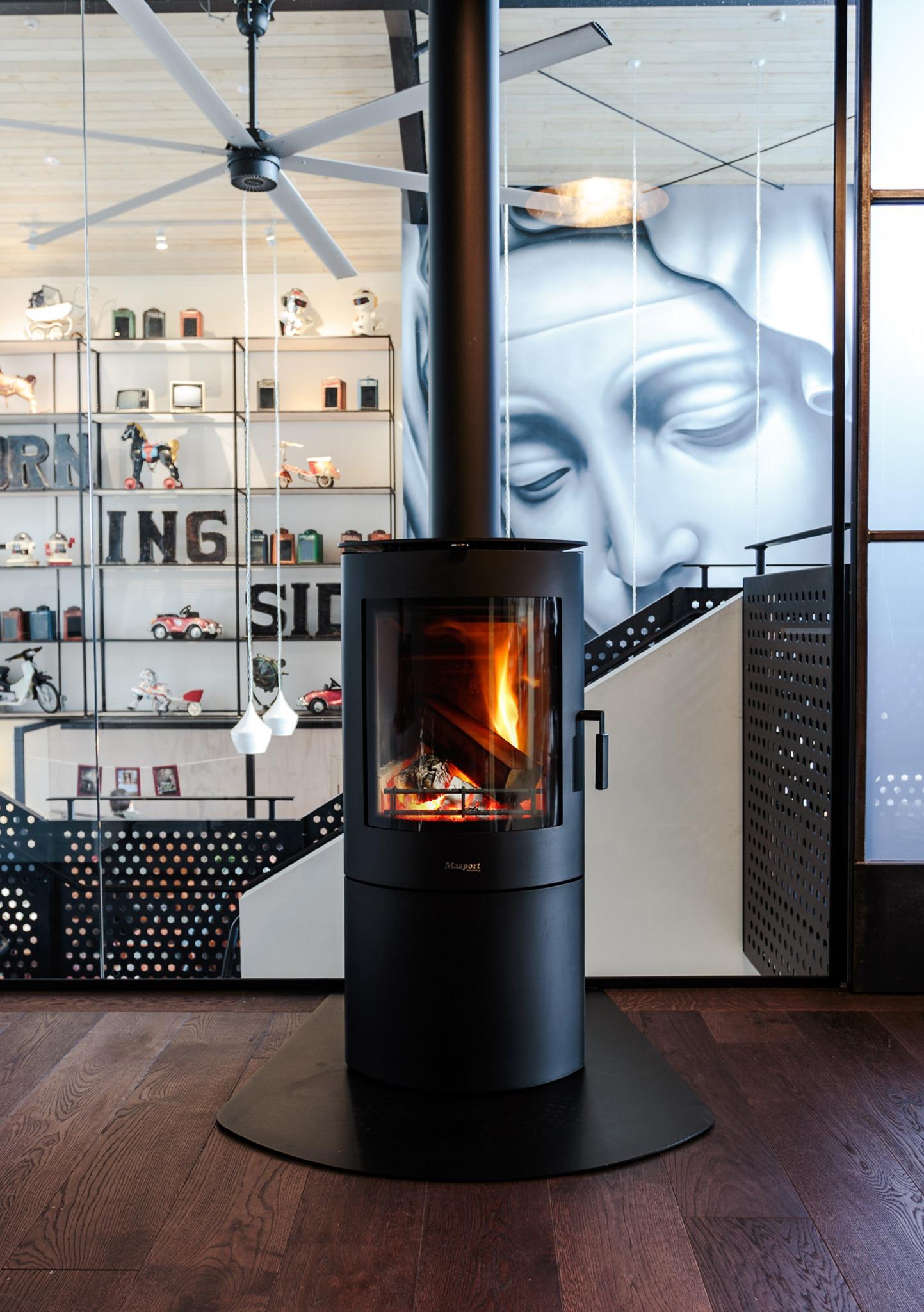 MASPORT Akaroa – Freestanding Radiant Wood Burner With Ash Pan