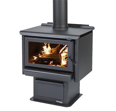 MASPORT R3000 – Freestanding Radiant Wood Burner With Pedestal Ash Pan