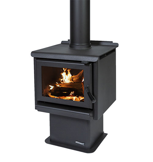 MASPORT R3000 – Freestanding Radiant Wood Burner With Pedestal