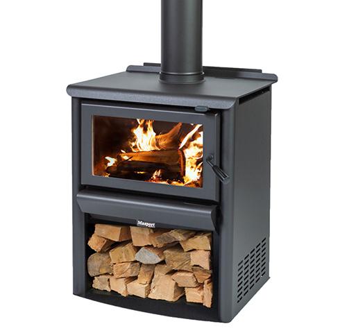 MASPORT R3000 – Freestanding Radiant Wood Burner With Wood Stacker
